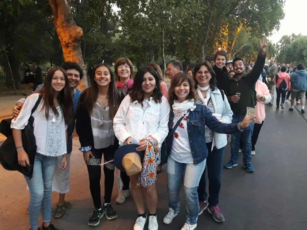 O entusiasmo dos jovens chilenos
