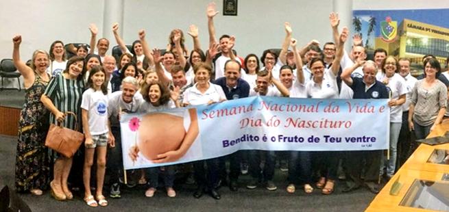 Joinville aprova Projeto de Lei que estabelece Semana de Defesa e Proteção da Vida