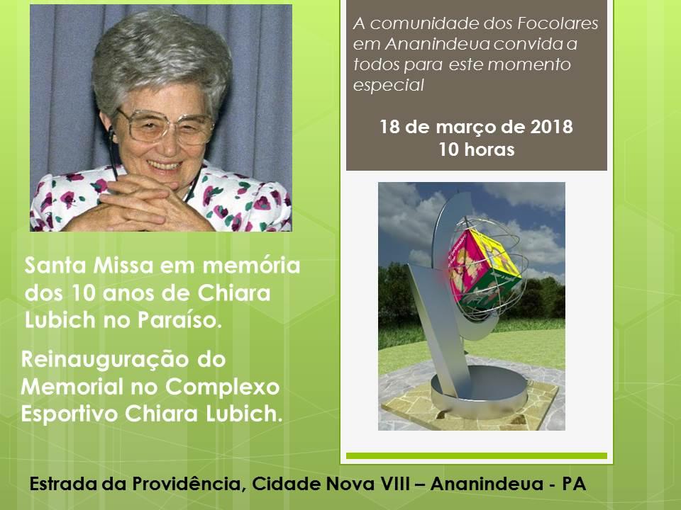 #10ChiaraLubich | Missa e Dado da Paz em Ananindeua PA