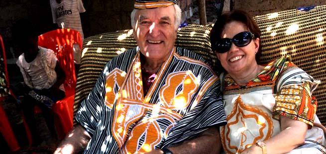 Ercília e Giampaolo: uma divina aventura na Costa do Marfim