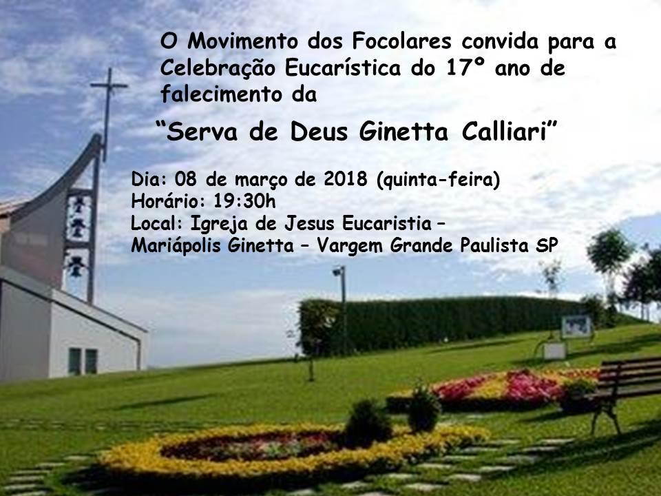 Mariápolis Ginetta realiza missa em homenagem à Serva de Deus Ginetta Calliari