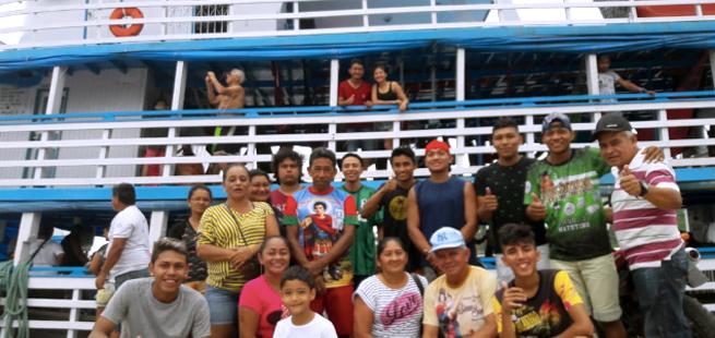 Jovens enfrentaram até 30 horas de barco para protagonizar Genfest em Manaus