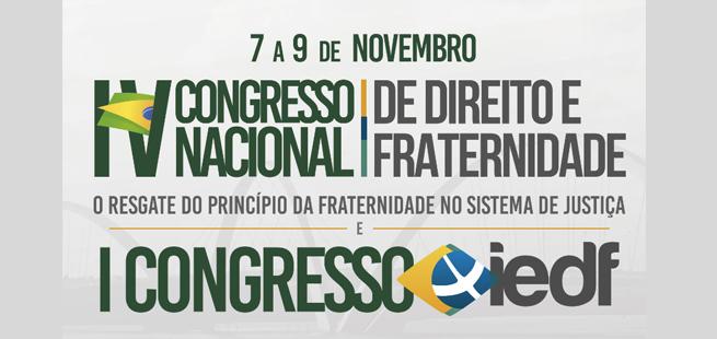 Direito e Fraternidade será tema de eventos no STJ, em novembro. Faça sua inscrição.