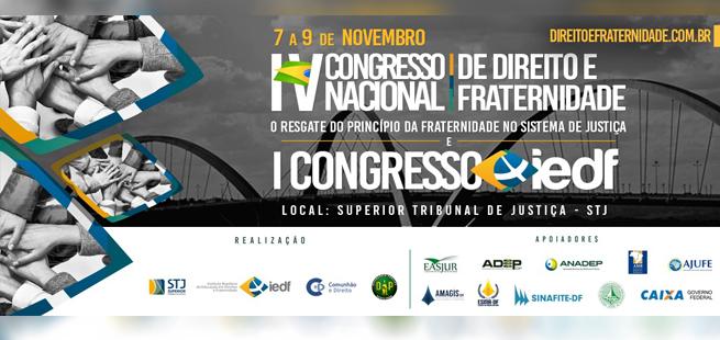 Congressos debatem direito e fraternidade e educação em direitos no STJ