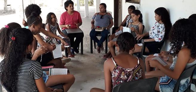 Adolescentes da comunidade Magnificat participam de jornada sobre Vícios e Virtudes