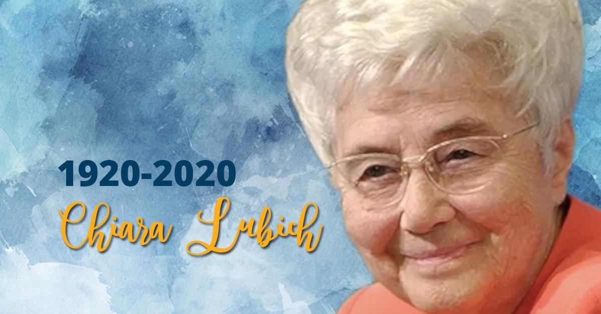 Maria Voce anuncia o Centenário de Chiara Lubich (1920-2020)