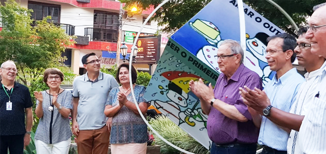 Monumento Dado da Paz é inaugurado na cidade de Encantado, no Rio Grande do Sul