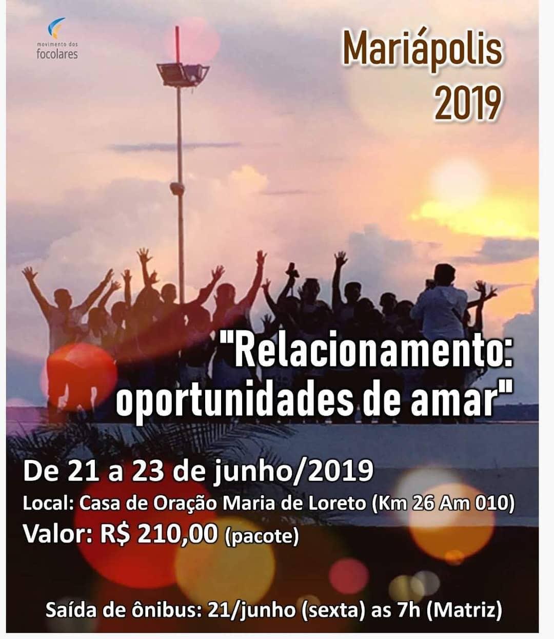 Mariápolis em Manaus 2019