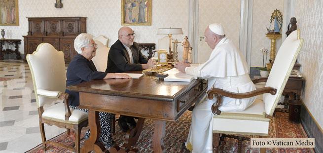 Maria Voce e Jesús Morán contam como foi audiência com o Papa [vídeo e tradução]