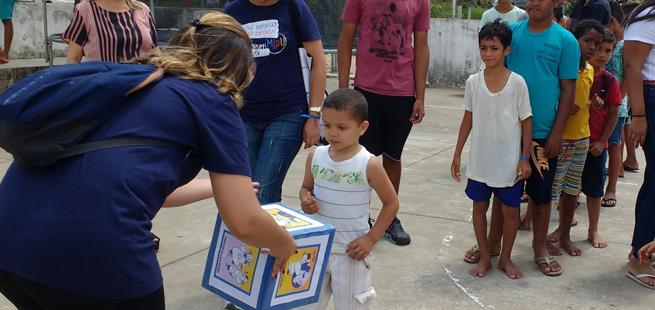 Instituto Mundo Unido, em Alagoas,realiza ação de Dia das Crianças no Assentamento Zumbi dos Palmares